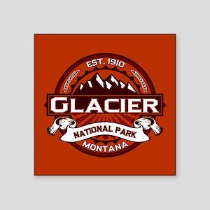"""Glacier Crimson Square Sticker 3"""" x 3"""""""