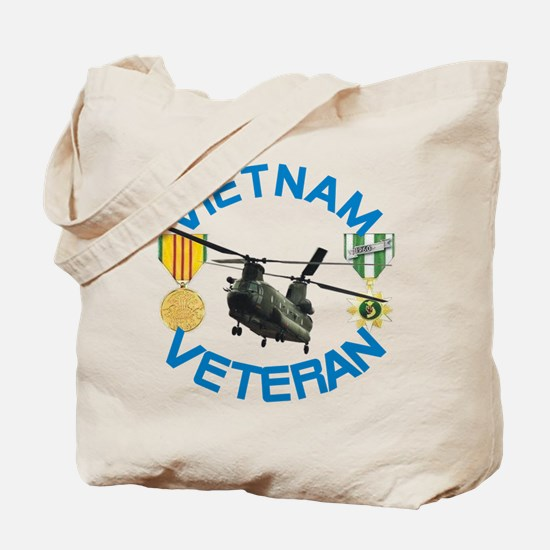 Chinook Vietnam Veteran Tote Bag