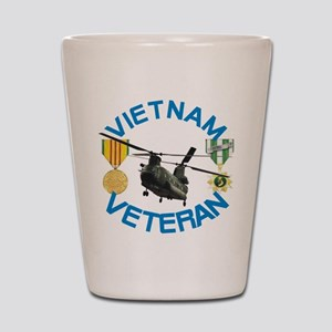 Chinook Vietnam Veteran Shot Glass