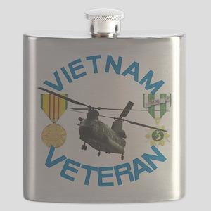 Chinook Vietnam Veteran Flask