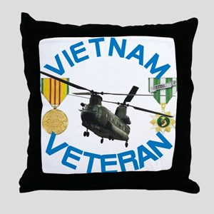 Chinook Vietnam Veteran Throw Pillow