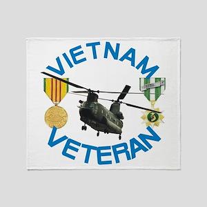 Chinook Vietnam Veteran Throw Blanket