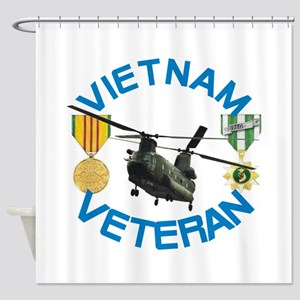 Chinook Vietnam Veteran Shower Curtain