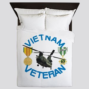 Chinook Vietnam Veteran Queen Duvet