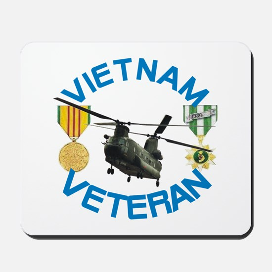Chinook Vietnam Veteran Mousepad