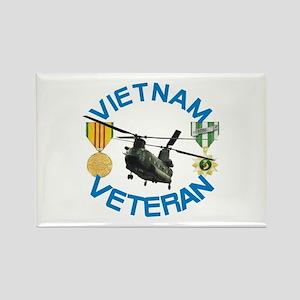 Chinook Vietnam Veteran Rectangle Magnet