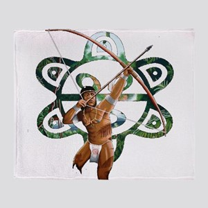TAINO HUNTER Throw Blanket
