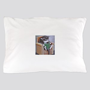 Reading Cat Pillow Case