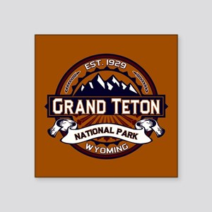 "Grand Teton Vibrant Square Sticker 3"" x 3"""