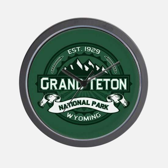 Grand Teton Forest Wall Clock