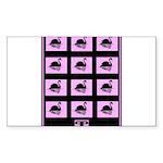 Black Swan Art Deco Psyc Sticker (Rectangle 50 pk)