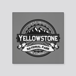 "Yellowstone Ansel Adams Square Sticker 3"" x 3"""