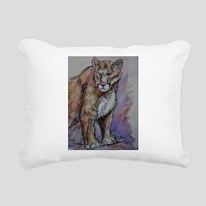 Mountain lion! Wildlife art! Rectangular Canvas Pi