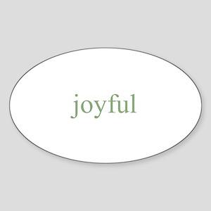 joyful Oval Sticker