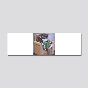 Reading Cat Car Magnet 10 x 3