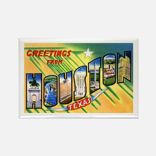 Houston Texas Greetings Rectangle Magnet