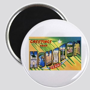 Houston Texas Greetings Magnet