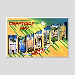 Houston Texas Greetings Mini Poster Print