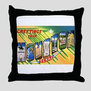 Houston Texas Greetings Throw Pillow