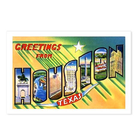 Houston Texas Greetings Postcards (Package of 8)