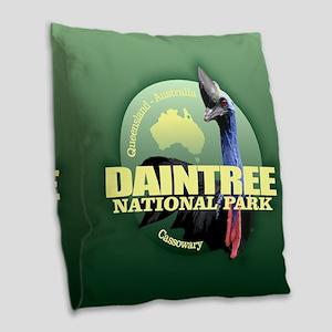 Daintree NP Burlap Throw Pillow