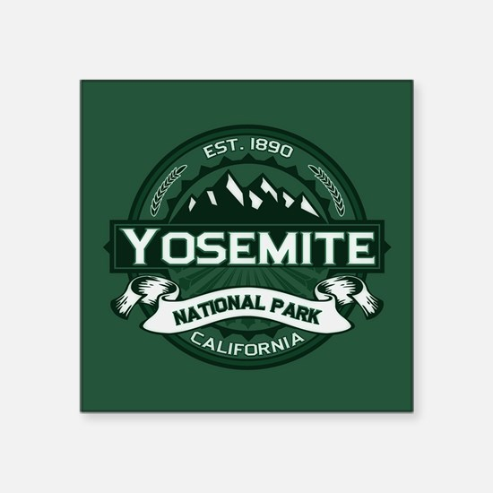 """Yosemite Forest Square Sticker 3"""" x 3"""""""