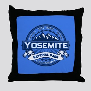 Yosemite Blue Throw Pillow