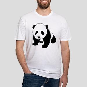 Panda Bear Fitted T-Shirt