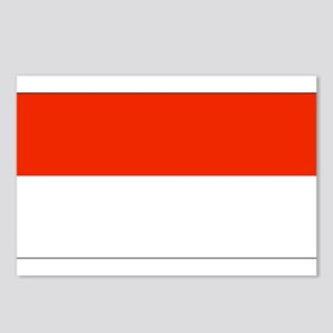 Monaco Monacan Flag Postcards (Package of 8)