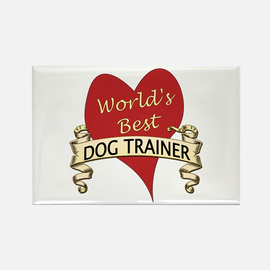 Cute Dog trainer Rectangle Magnet