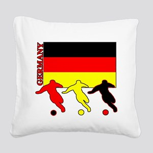Soccer Germany Square Canvas Pillow