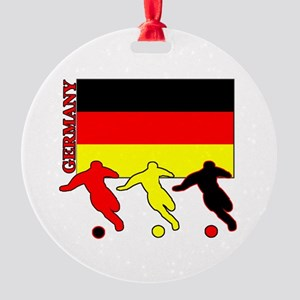 Soccer Germany Round Ornament