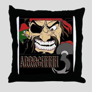 Pirate Says AARRGG Throw Pillow