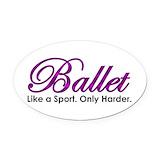 Ballet Oval Car Magnets