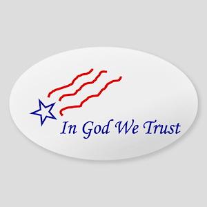 In God star Sticker (Oval)