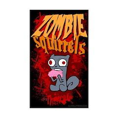 Zombie Squirrels Sticker (Rectangle)
