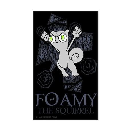 Hoppin' Angry Foamy Sticker (Rectangle)
