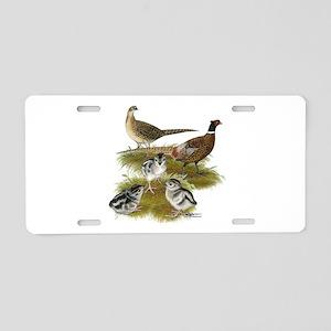 Pheasant Family Aluminum License Plate