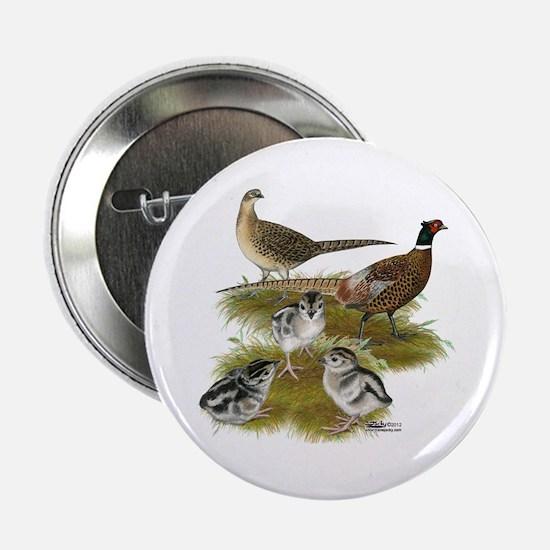 """Pheasant Family 2.25"""" Button"""