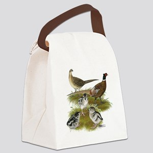 Pheasant Family Canvas Lunch Bag