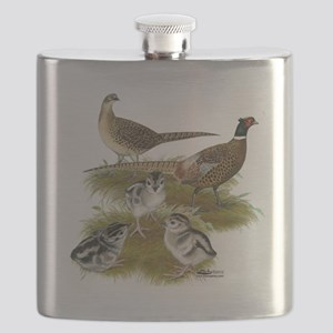 Pheasant Family Flask