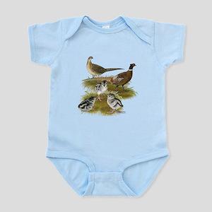 Pheasant Family Infant Bodysuit