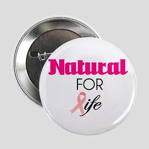 Breast Cancer Natural Survivor Button
