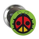 "Ladybug Peace Sign 2.25"" Button"