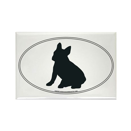 French Bulldog Silhouette Rectangle Magnet