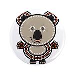 """Aboriginal Koala 3.5"""" Button"""