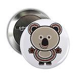 """Aboriginal Koala 2.25"""" Button"""