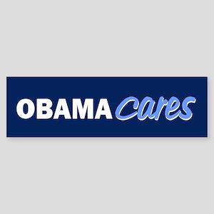 Obama Cares Sticker (Bumper)