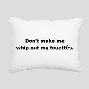 Fouettes Rectangular Canvas Pillow