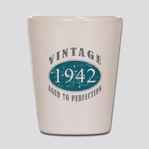 1942 Vintage Blue Shot Glass